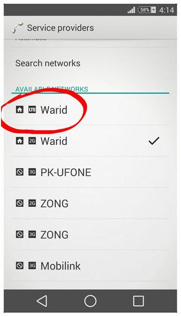 Warid 4G LTE Sialkot Screenshot