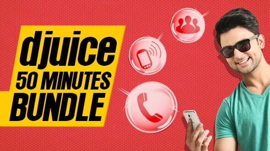 Djuice 50 Minutes Bundle Offer - Get FREE On-Net Minutes