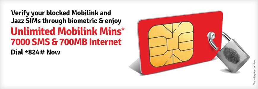 Mobilink Re-Verify Blocked SIM Offer