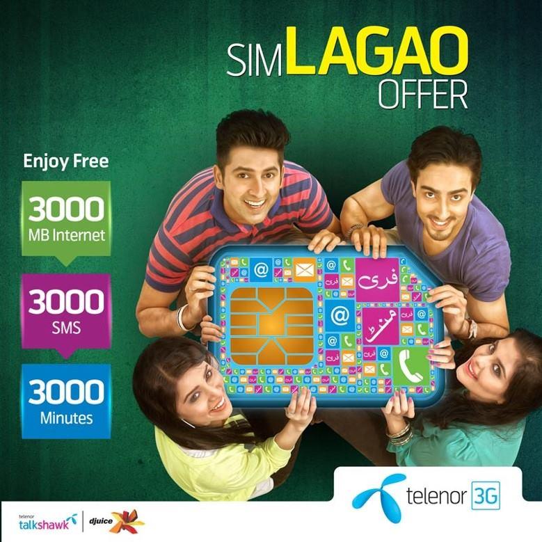 Telenor Talkshawk & Djuice SIM Lagao Offer - 1st March 2015