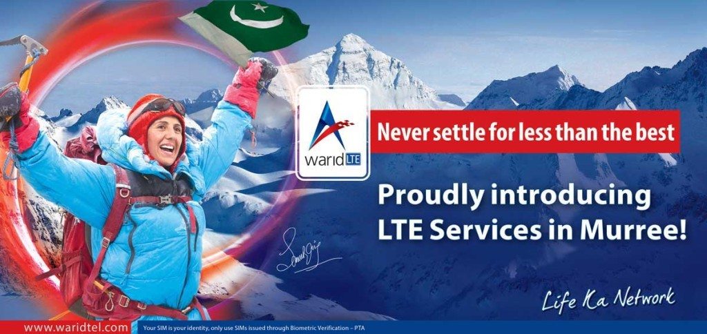 Warid Launches its 4G LTE Services in Murree