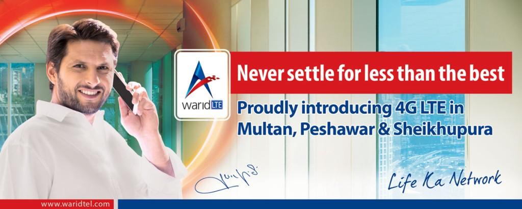 Warid 4G LTE-Multan-Peshawar-Sheikhupura-Quetta