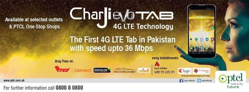 PTCL CharJi EVO 4G LTE Tablet