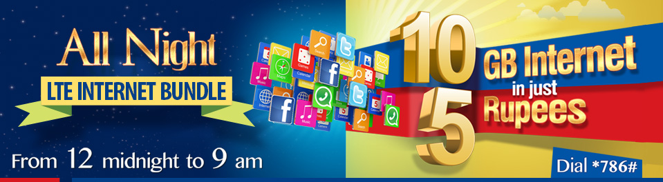Warid Ramzan Offer 2015 - All Night Internet Bundles