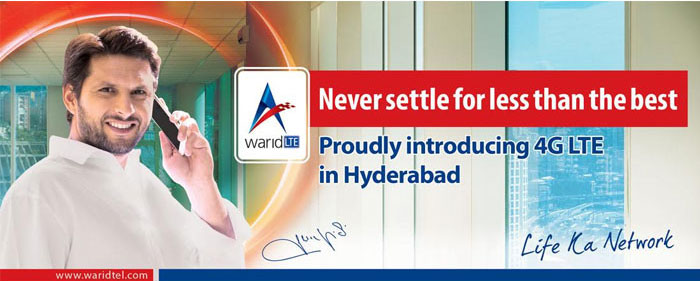 Warid Launches its 4G LTE Services in Hyderabad