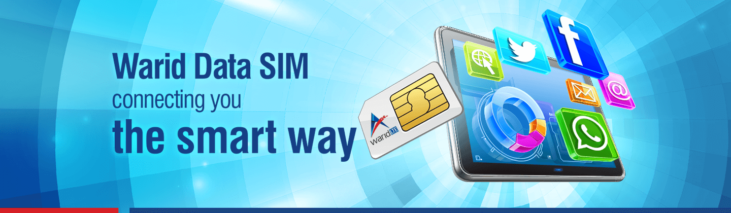 Warid Data SIM - Special SIM to Provide Online Connectivity