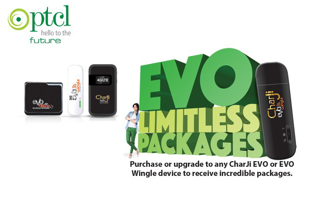 PTCL Offers �Limitless Packages� For its EVO & CharJi Customers
