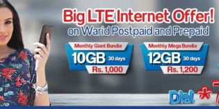 Warid LTE Super Bundles With Up to 10GB & 12GB LTE Data