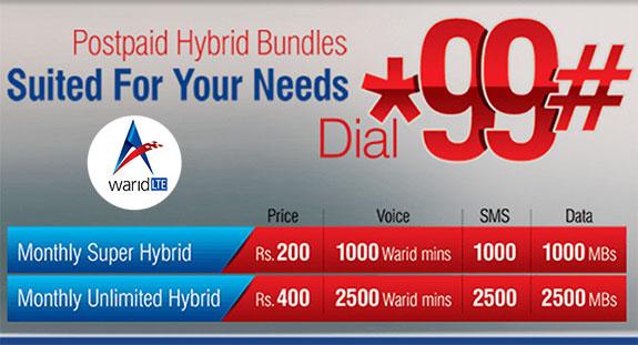 warid-super-unlimited-hybrid-bundles-for-postpaid-customers