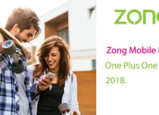 Zong Mobile Broadband One Plus One Offer 2018